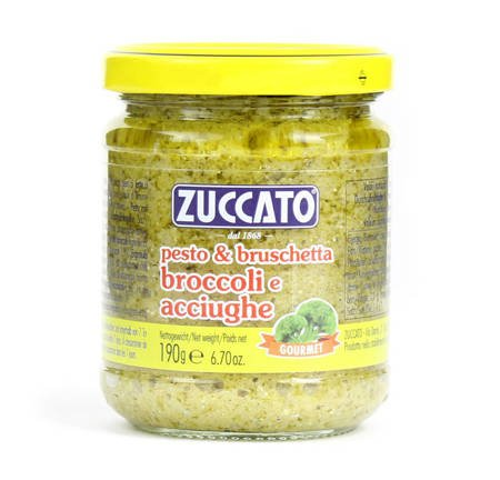 Zuccato Pesto & Bruschetta Broccoli e Acciughe - pesto z brokułów i anchois 190g
